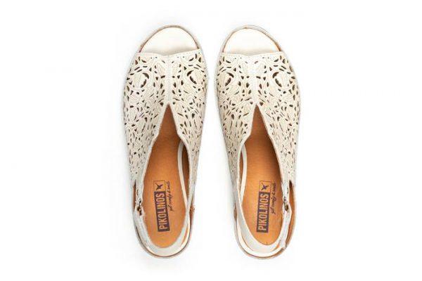 Pikolinos JAVA W5A-1805 Leather Women's Sandal - White