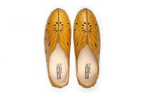 Pikolinos JEREZ 578-7399 Leather Women's Ballerina - Yellow