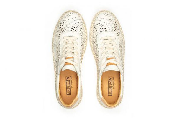 Pikolinos Mesina W6B-6996 Leather Sneaker for Women - White