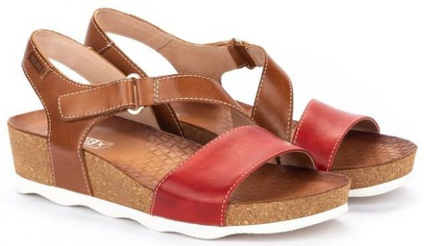 Pikolinos MAHON W9E-0833C1 Leather Women's Sandal - Coral