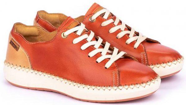Pikolinos Mesina W6B-6836 Leather Sneaker for Women - Scarlet