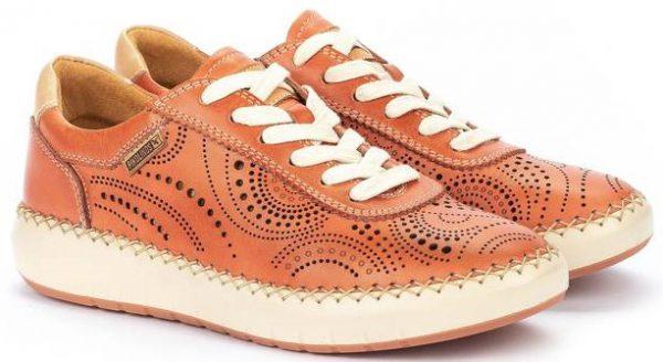 Pikolinos Mesina W6B-6996 Leather Sneaker for Women - Scarlet