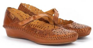 Pikolinos P. VALLARTA 655-0898 Leather Women's Sandal - Brandy