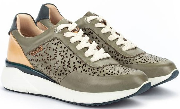 Pikolinos SELLA W6Z-6869C1 Leather Sneaker for Women - Sage
