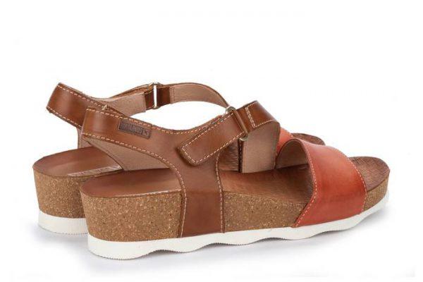 Pikolinos MAHON W9E-0833C1 Leather Women's Sandal - Scarlet