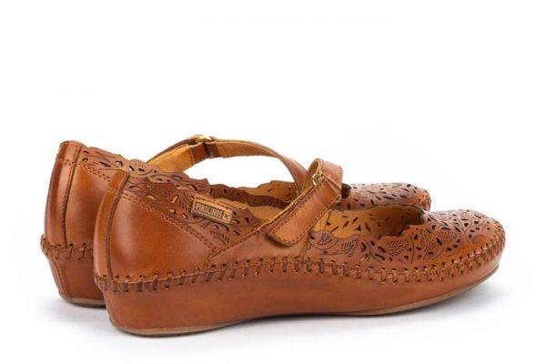 Pikolinos P. VALLARTA 655-0898 Leather Women's Sandal - Brandy