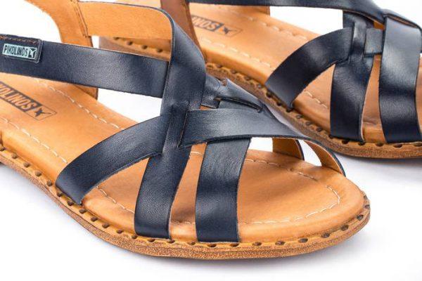 Pikolinos ALGAR W0X-0556 Leather Women's Sandal - Blue