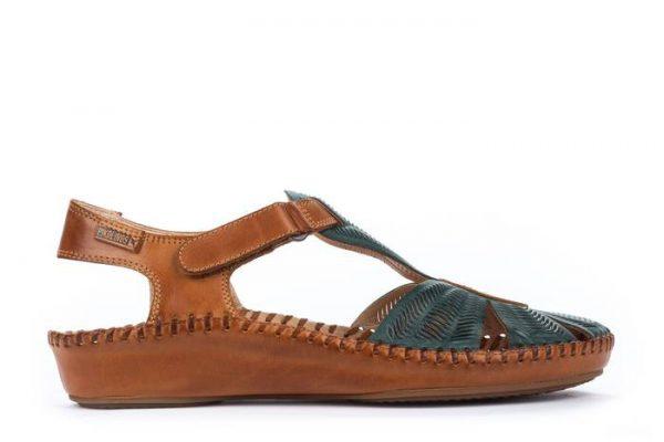 Pikolinos P. VALLARTA 655-0575 Leather Women's Sandal - Emerald