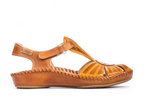 Pikolinos P. VALLARTA 655-0575 Leather Women's Sandal - Lava