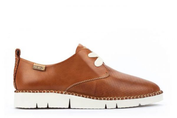 Pikolinos Vera W4L-6780 Leather Lace-Up Shoe for Women - Brandy