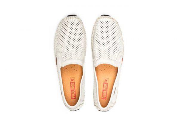 Pikolinos JEREZ 09Z-3100 Leather Slip-on Shoe for Men - White