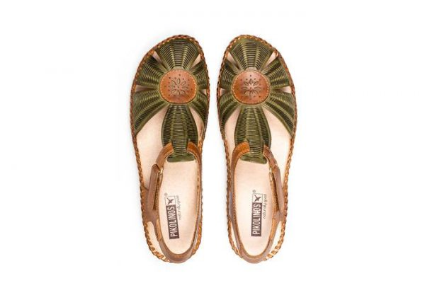 Pikolinos P. VALLARTA 655-0575 Leather Women's Sandal - Cactus