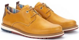 Pikolinos BERNA M8J-4273 Leather Lace-up Shoe for Men - Honey