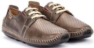 Pikolinos JEREZ 09Z-6038 Leather Lace-up Shoe for Men - Dark Grey