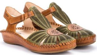 Pikolinos P. VALLARTA 655-0575 Leather Women's Sandal - Cactus