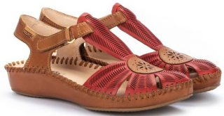 Pikolinos P. VALLARTA 655-0575 Leather Women's Sandal - Coral