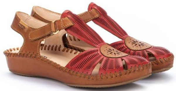 Pikolinos P. VALLARTA 655-0575 Leather Women's Sandal - Coral