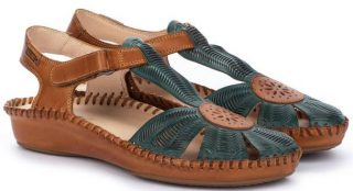 Pikolinos P. VALLARTA 655-0575 Leather Women's Sandal - Emerald