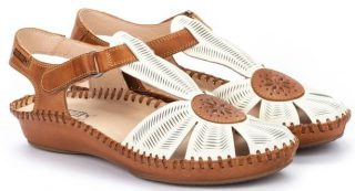 Pikolinos P. VALLARTA 655-0575 Leather Women's Sandal - Nata
