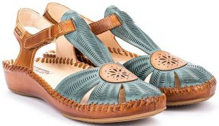 Pikolinos P. VALLARTA 655-0575 Leather Women's Sandal - Petrol