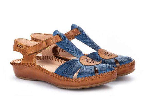 Pikolinos P. VALLARTA 655-0575 Leather Women's Sandal - Royal Blue