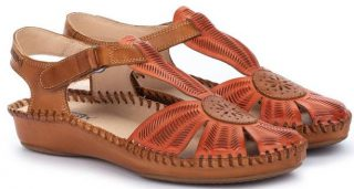 Pikolinos P. VALLARTA 655-0575 Leather Women's Sandal - Scarlet