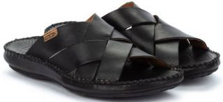 Pikolinos TARIFA 06J-0015 Leather Sandals for Men - Black