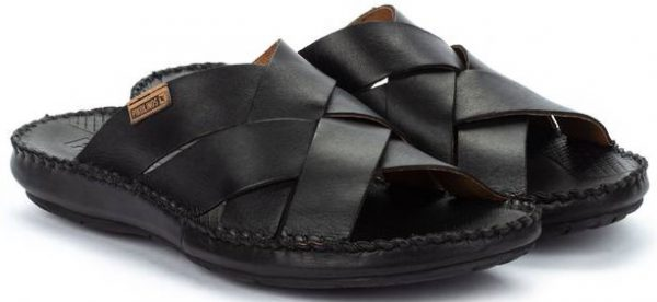 Pikolinos TARIFA 06J-0015 Leather Sandals for Men - Black