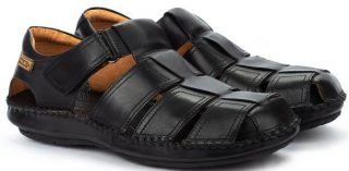 Pikolinos TARIFA 06J-5433 Leather Sandals for Men - Black
