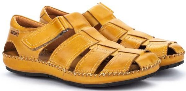 Pikolinos TARIFA 06J-5433 Leather Sandals for Men - Honey