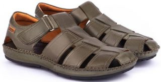 Pikolinos TARIFA 06J-5433 Leather Sandals for Men - Pickle
