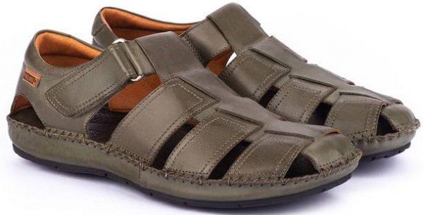 Pikolinos TARIFA 06J-5433 Leather Sandals for Men - Pickle