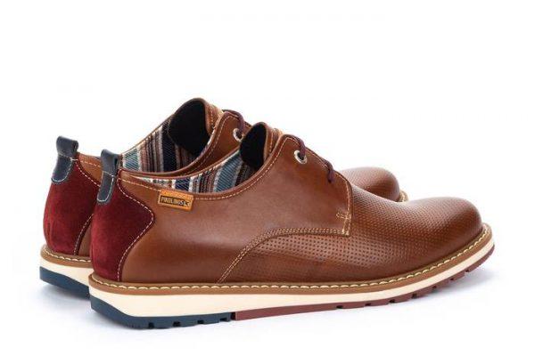 Pikolinos BERNA M8J-4273 Leather Lace-up Shoe for Men - Cuero