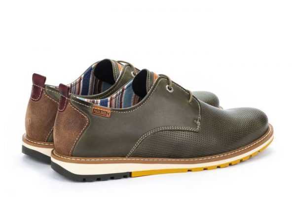 Pikolinos BERNA M8J-4273 Leather Lace-up Shoe for Men - Pickle