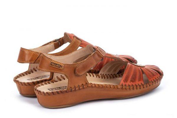 Pikolinos P. VALLARTA 655-0575 Leather Women's Sandal - Scarlet
