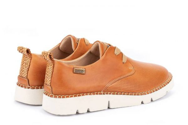 Pikolinos Vera W4L-6780 Leather Lace-Up Shoe for Women - Apricot