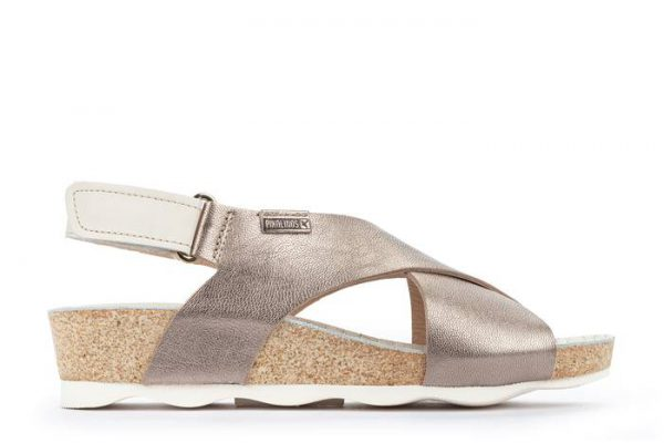 Pikolinos MAHON W9E-0912CLC1 Leather Women's Sandal - Stone