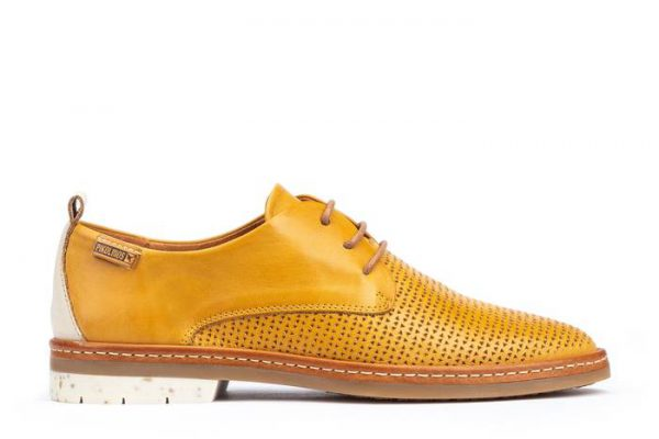 Pikolinos SANTANDER W7C-4987C1 Leather Lace-up Shoe for Women - Honey