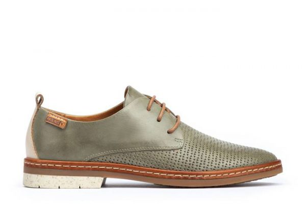 Pikolinos SANTANDER W7C-4987C1 Leather Lace-up Shoe for Women - Sage