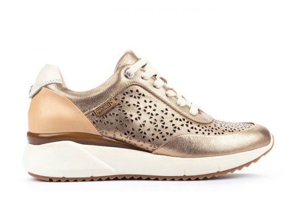 Pikolinos SELLA W6Z-6869CL Leather Sneaker for Women - Champagne