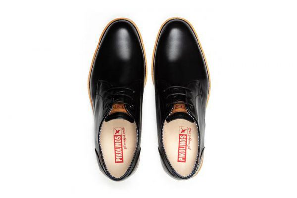 Pikolinos ARONA M5R-4343 Leather Lace-up Shoe for Men - Black