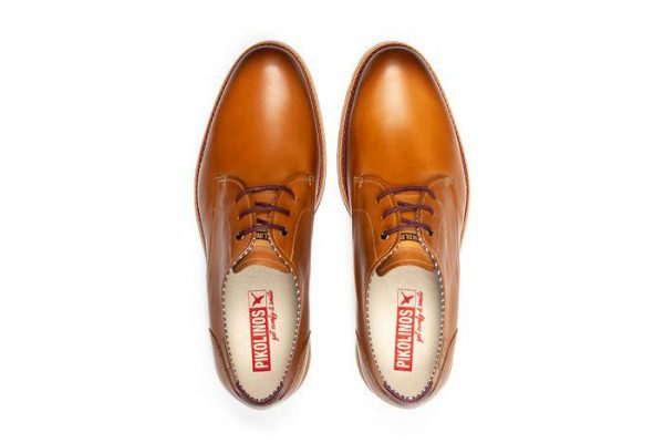 Pikolinos ARONA M5R-4343 Leather Lace-up Shoe for Men - Brandy