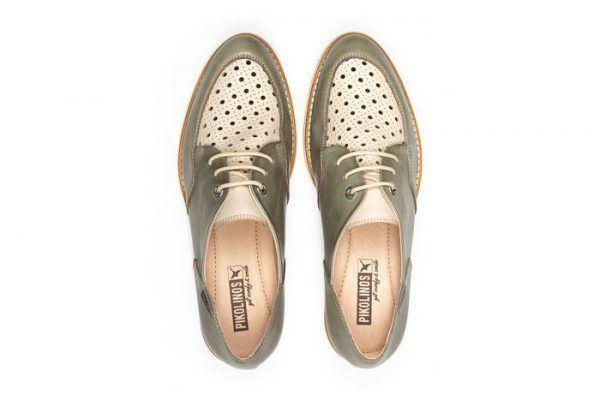 Pikolinos SITGES W7J-4916C1 Leather Lace-up Shoe for Women - Sage
