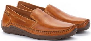 Pikolinos AZORES 06H-5303 Leather Slip-on Shoe for Men - Brandy
