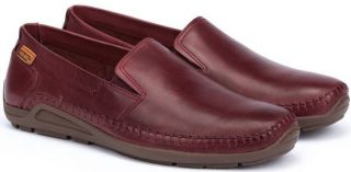 Pikolinos AZORES 06H-5303 Leather Slip-on Shoe for Men - Garnet
