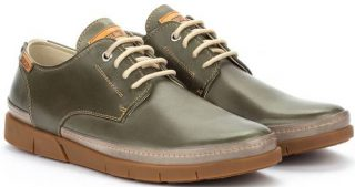 Pikolinos PALAMOS M0R-4339C1 Leather Lace-up Shoe for Men - Pickle