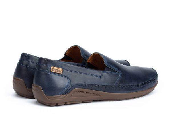 Pikolinos AZORES 06H-5303 Leather Slip-on Shoe for Men - Blue