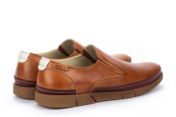 Pikolinos PALAMOS M0R-3203C1 Leather Slip-on Shoe for Men - Brandy