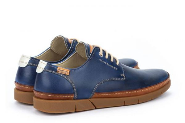 Pikolinos PALAMOS M0R-4339C1 Leather Lace-up Shoe for Men - Royal Blue