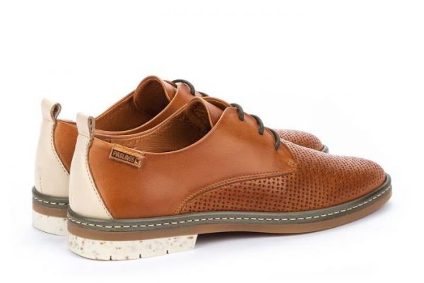 Pikolinos SANTANDER W7C-4987C1 Leather Lace-up Shoe for Women - Brandy